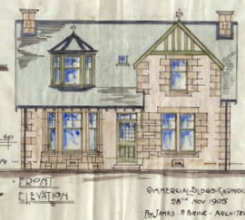 Elevation of a villa in Carnoustie 1905 (Angus Archives)
