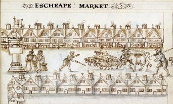 East Cheap Market in 1598
