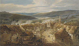 The Village of Jedburgh in 1796 by Thomas Girton