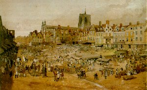Norwich Market Place by John Sell Cotman (Abbot Hall Art Gallery, Kendal)